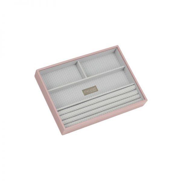 Кутия за бижута с 4 секции Stackers, цвят розов блъш