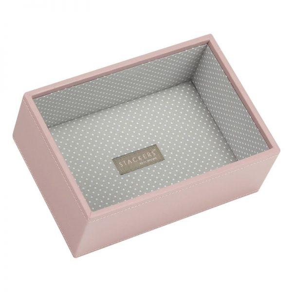 Мини кутия за бижута с дълбоко дъно Stackers, розов Блъш