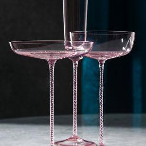 Чаша за шампанско Champagne Theatre, ниска 2бр., розово
