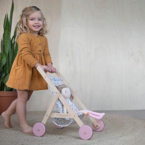 Дървена Количка за Кукли