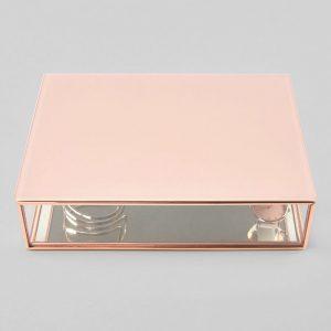 Стъклена кутия за бижута с капак