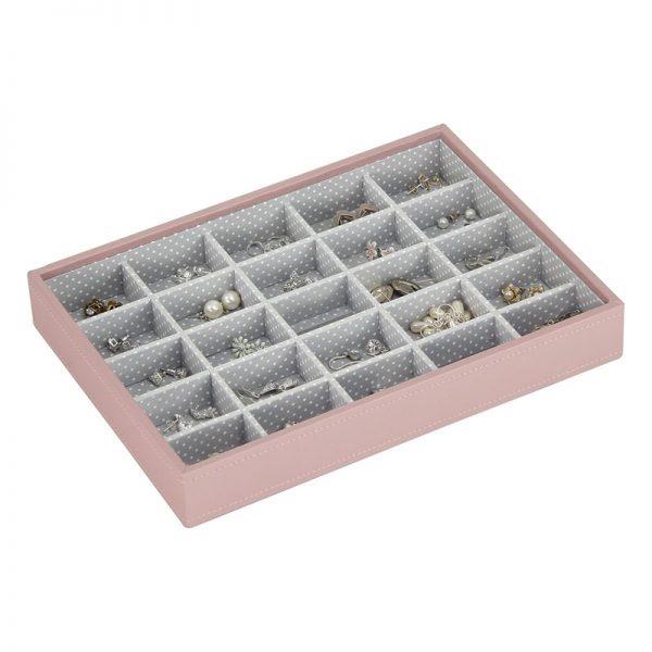 Кутия за бижута с 25 секции Stackers, розов Блъш