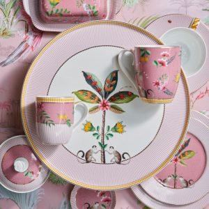 Стилно плато за сладкиши La Majorelle в розово