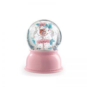 Нощна лампа-преспапие балерина Djeco, розов цвят