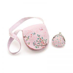 Комплект детска чантичка за през рамо и портмоне - Djeco