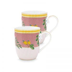 Комплект 2 броя чаени чаши La Majorelle 145 ml в розово