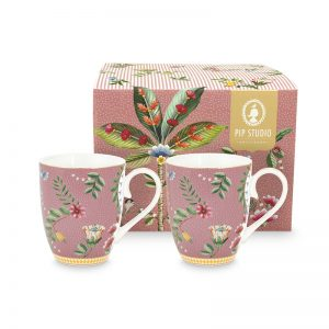 Комплект 2 броя чаени чаши La Majorelle 350 ml в розово