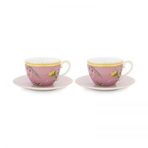 Комплект 2 бр. чаши за капучино La Majorelle 280ml в розово
