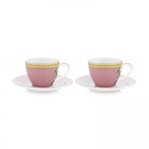 Комплект 2 бр. чаши за еспресо La Majorelle 120 ml в розово