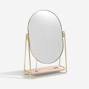 Огледало за тоалетка и поставка за бижута Stackers, розово