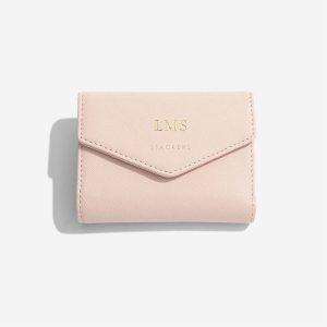 Компактно дамско портмоне Stackers, цвят розов Блъш