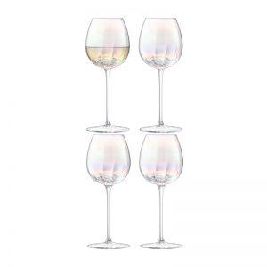 Комплект кристални чаши за бяло вино Pearl (4бр.)