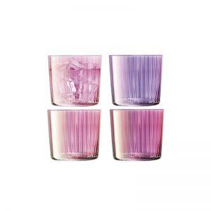 Ниски чаши Gems с преливащ оттенък в розово,310 ml (4бр.)