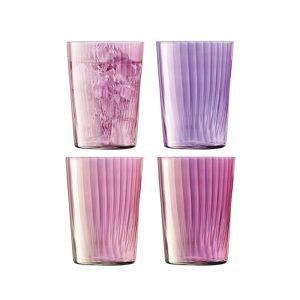 Чаши с преливащ оттенък в розово Gems, 560 ml (4бр.)